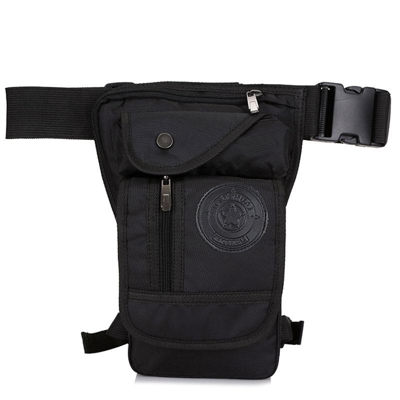 High Quality Men Nylon Cross Body Fanny Bag Motorcycle Rider Hip Belt Leg Bags Travel Drop Thigh Pouch Military Waist Pack Bag