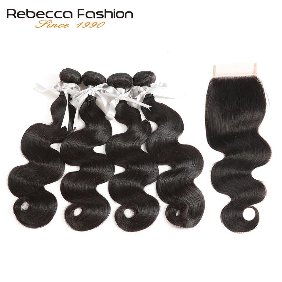 Rebecca Olmayan Remy Perulu Vücut Dalga Kapatma Ile Insan Saç - Kuaför Salonları Için Donatım - Fotoğraf 2