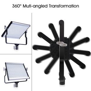 Image 4 - SAMTIAN photography light studio light L4500 2 set video light with stand tripods dimmable bi color 3200K 5500K panel light