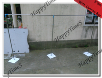 3*8m Wedding Background Curtain Stand Party Stainless Steel Pipe And Base With Carrying Bag