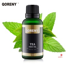 QORENY 30ml Tea Tree Oil 100% Pure and Natural Therapeutic Grade – Large 1.02 fl oz – with Premium Glass Dropper Remove ACNE
