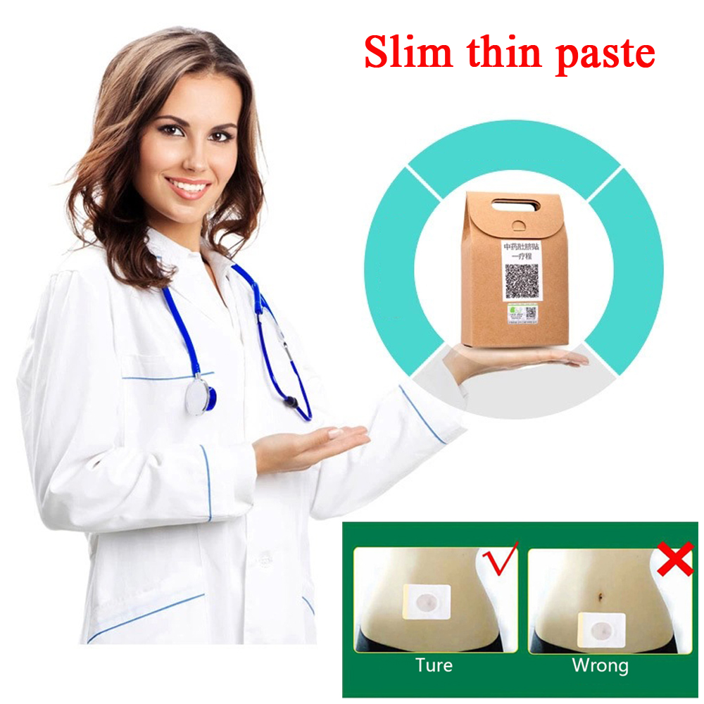 40Pcs Slimming Patch Pads Chinese Traditional Medicine Navel Stick Slim Patch Emagrecimento Lose Weight Burning Fat Plaster C678