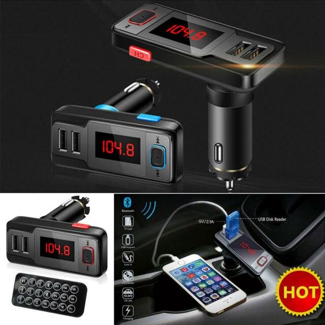 Sem fio bluetooth speaker kit car lcd transmissor fm mp3 carregador dual usb suporte a usb/aux/tf cartão mãos-livres para o telefone móvel
