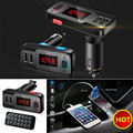 Wireless Bluetooth Speaker Car Kit LCD FM Transmitter MP3 Dual USB Charger Support USB/AUX/TF card Handsfree For Mobile Phone
