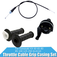 Throttle Cable Grip Casing Set for Kawasaki KX 60 65 80 85 100 125 250 KLX110 Motorcycle Accessories & Parts