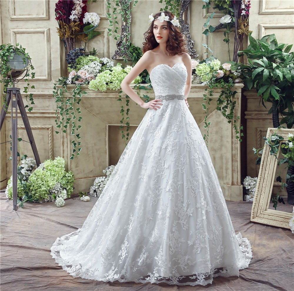 Free Shipping In Stock 100% Real Pic Elegant Wedding Dresses Ball ...