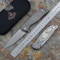 kevin john F95 S pattern Flipper folding knife D2 blade Titanium handle Outdoor camping hunting pocket knives EDC tools survive