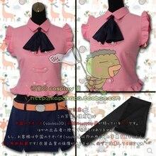 Japanese anime cosplay Seven Deadly Sins Lady Skirt Elizabeth Coat + skirt + bow tie+ belts
