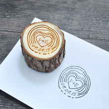 Cute Wood Pole Shaped Personalized Custom-Made Stamp