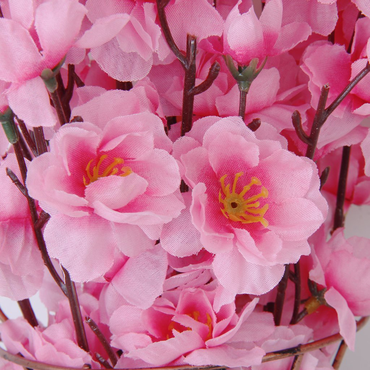 6st persika blomma simulering blommor konstgjorda blommor siden - Semester och fester - Foto 6