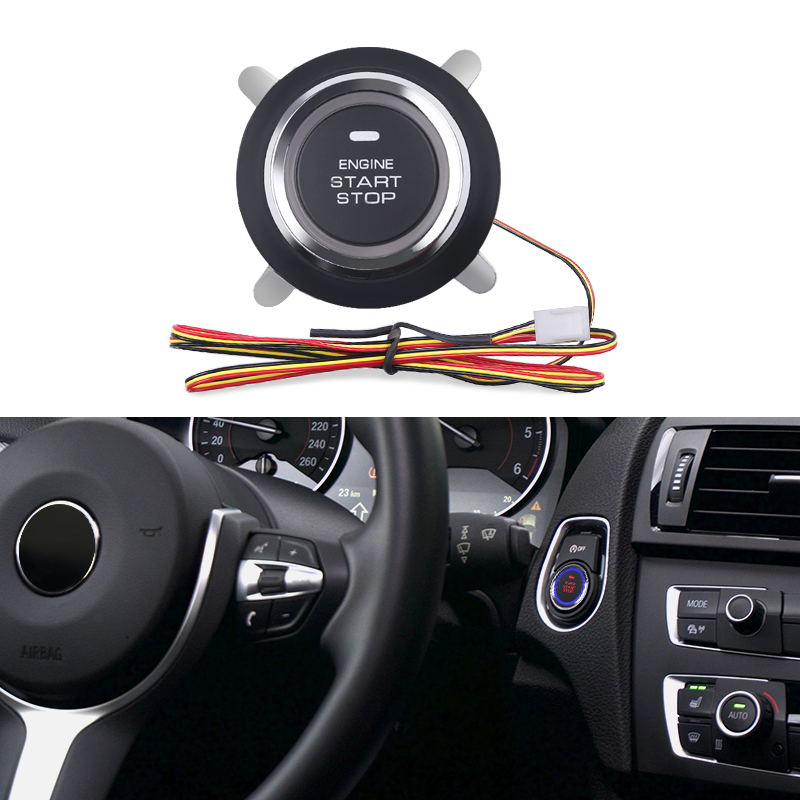 Car Engine Push Start Stop Button Ignition Starter Engine Starter Switch Keyless 12v Auto Engine Start Stop System