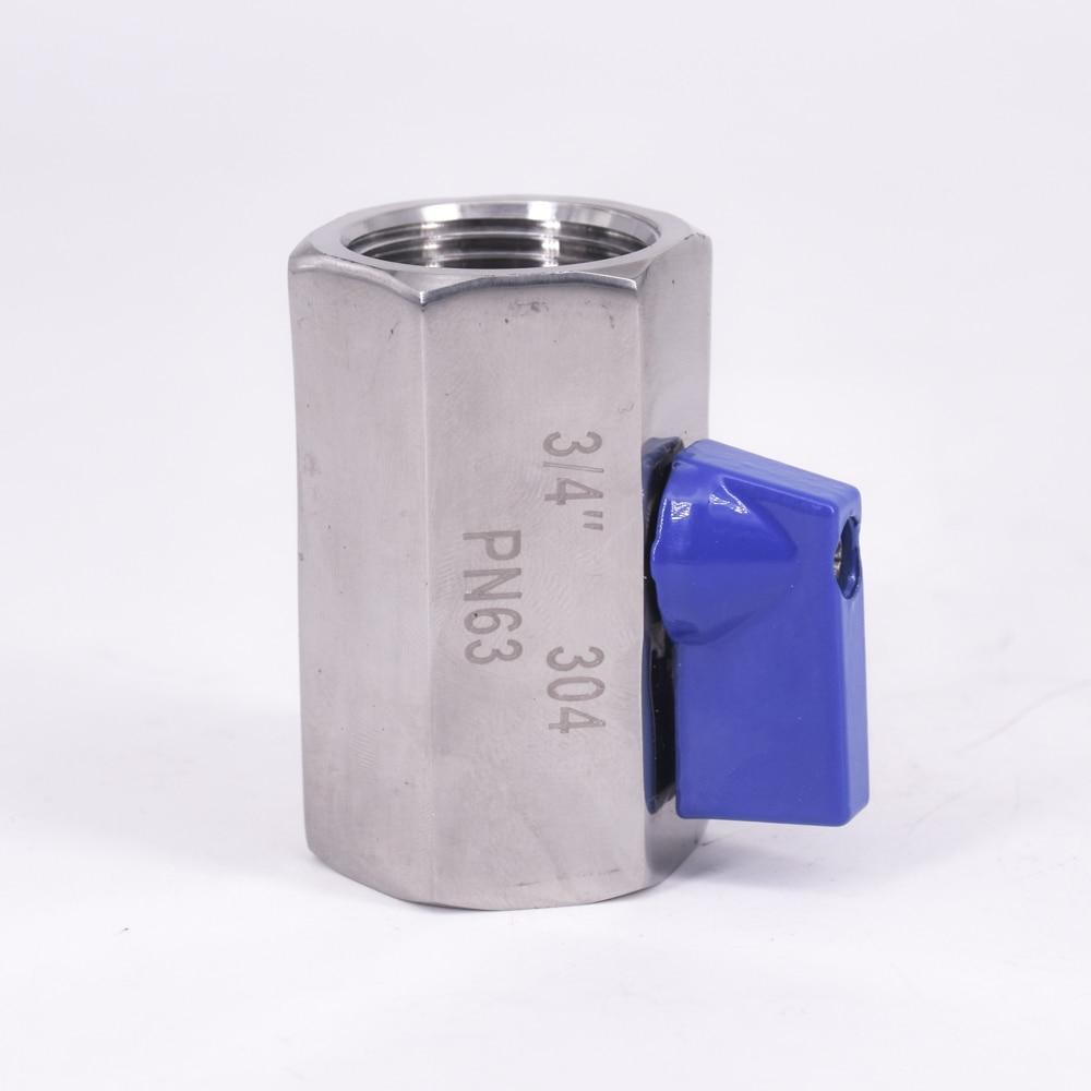 Erfinderisch 3/4 bsp Mini Sanitär Ball Ventil Homebrew Bier Sus 304 Edelstahl Mit Blau Hanlde Niedriger Preis Sanitär