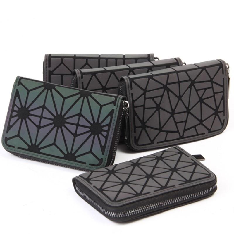 New Women Short Wallet Clutch Luminous Wallet Diamond Lattice Standard Zipper Wallets Designer Noctilucent Card Holder Purse