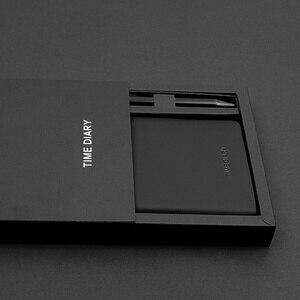 Image 2 - Cuaderno mágico negro A6 con bolígrafo, juego de mano, caja de regalo, Bloc de notas de piel sintética suave, pequeño libro de bolsillo cuadrado