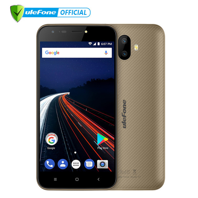 Ulefone S7 Dual Rear Cameras Mobile Phone 5.0 inch HD MTK6580 Quad Core Android 7.0 2GB RAM 16GB ROM 13MP Cam 3G WCDMA Cellphone