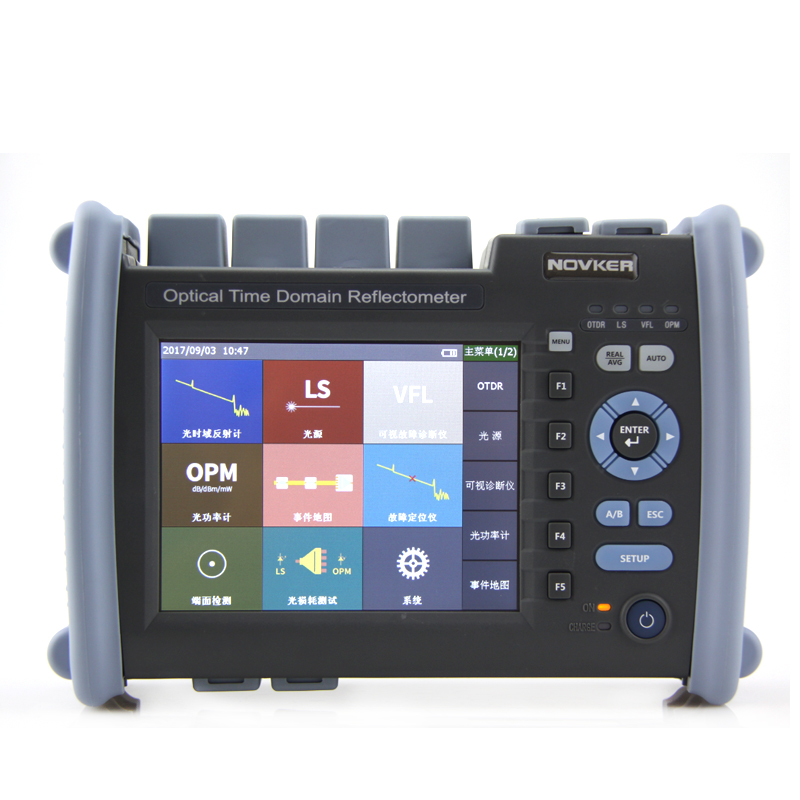 Multifunction Handheld NK6000 OTDR 1310/1550nm Optical Time Domain Reflectometer Integrated VFL 5mW 35/33dB Optical Power Meter