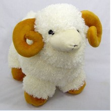 small lovely plush sheep toy the Simulation dolly sheep doll beige sheep doll with yellow claws gift about 25cm