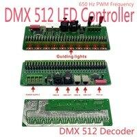 30 канала/27 канал легко RGB Светодиодные полосы контроллер dmx-декодер dmx512 контроллер 5 В-24 В DIY свет