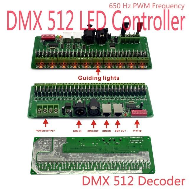 DMX Decoder 30 Channels RGB LED Strip Lights Driver DMX 512 Dimmer