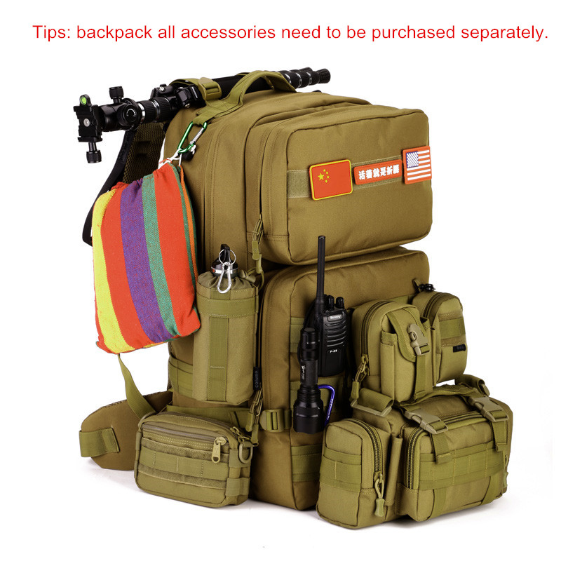 55L Large Capacity Men Military Backpack Mochilas Masculina Travel Bag  Waterproof Nylon Bucket Bagpack Y105 цена и фото