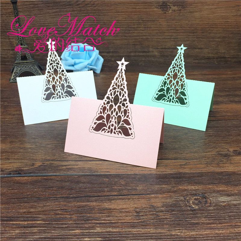 40pcs Birthday Christmas Tree Laser Cut Baby Shower Party