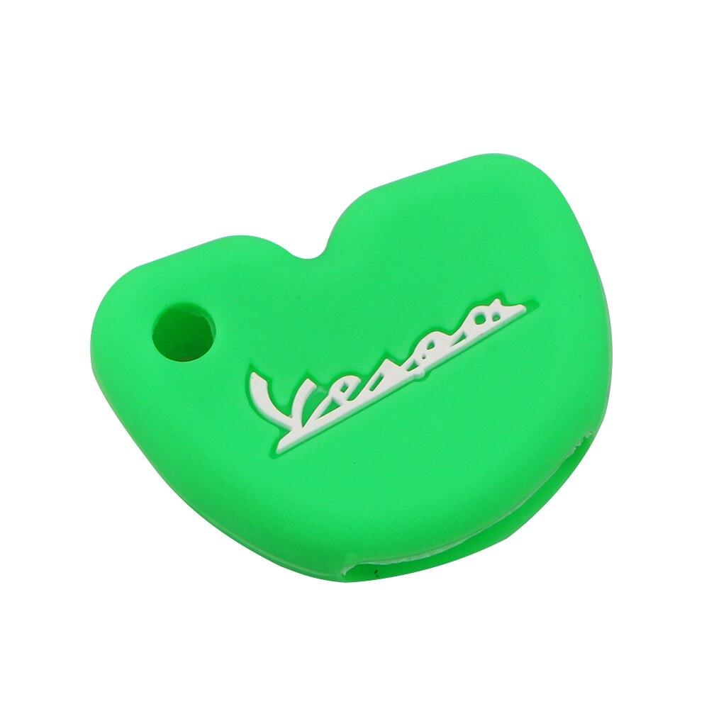 Силиконовый чехол для ключей от машины защитный чехол s подходит для Vespa Enrico Piaggio GTS300 LX150 Fly 125 3vte Gts 200 ключ для мотоцикла - Название цвета: Green