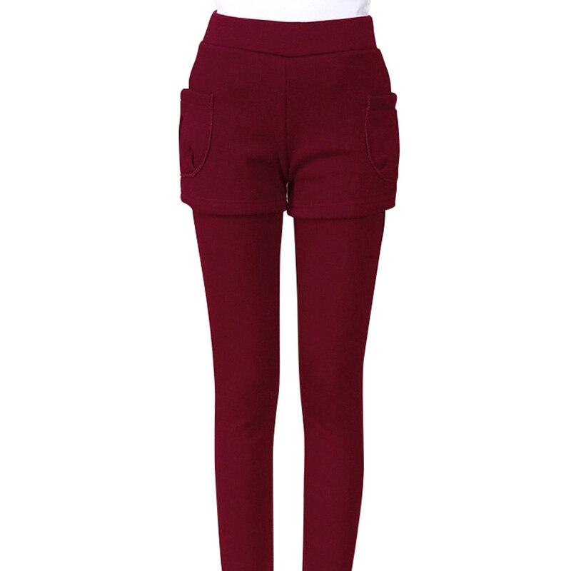 Winter   Leggings   for Woman Warm Thick Velvet   Leggings   Autumn Fitness High Elasticity Cotton   Leggings   Fashion Fake Two-piece Skirt