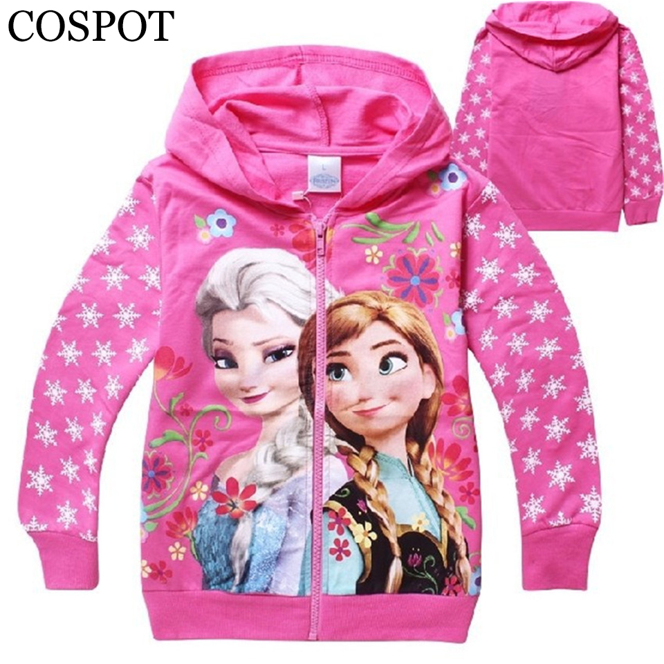 COSPOT Baby Girls Spring Hoodies Girl's 100% Cotton Hooded Sweatshirt Girl 3D Printer Coat New Fashion 2017 28F