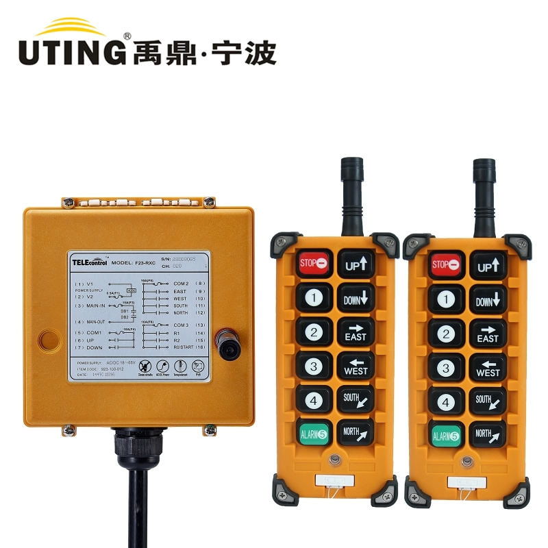 Industrial Remote Control F23 A++ (2 Transmitters + 1 receiver) 10 Channels Hoist Crane Radio Remote Control System