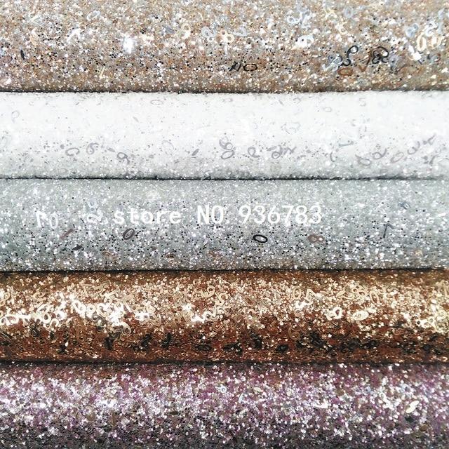 97c4a0ce MQ038C 30X134 cm brillo grueso de cuero con el número para hacer arcos  zapatos bolsos y papel pintado decoración de fiesta