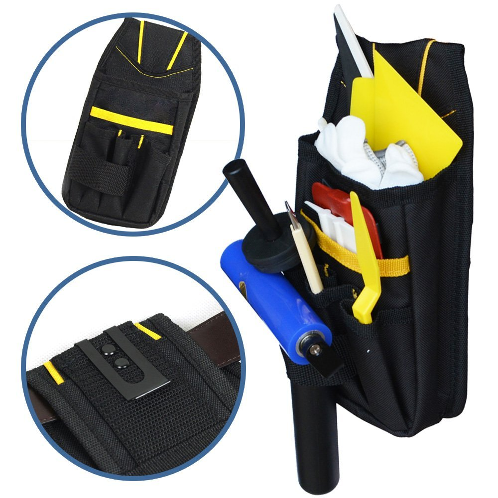 EHDIS Professional Tool Bag Oxford Cloth Pouch Bag Waist Belt Organizer Durable Hardware Vinyl Car Wrap Tool Set Utility Bags oxford cloth durable waterproof tools container storage waist bag with belt electrical tools bag 24x20cm 9 45x7 87