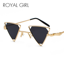 ROYAL GIRL Vintage Punk Triangle Sunglasses Women Men Metal Frame Black Red Yellow Pink Sun Glasses Retro Shades ss056