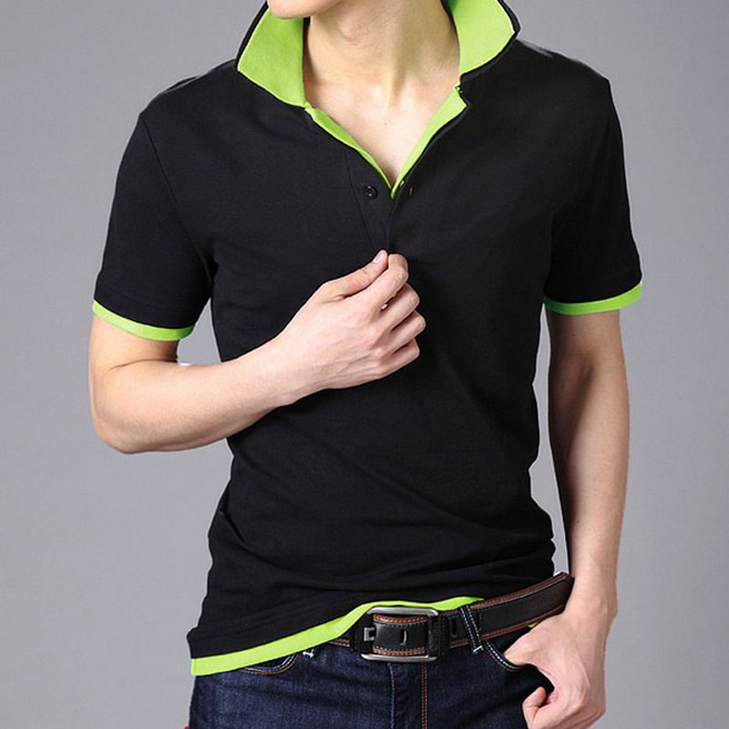 NEW2017 Spring Autumn Men's short sleeve   Polo   shirt Breathable Double collar Male Lapel leisure tenis   polos   hombre Plus Size 3XL