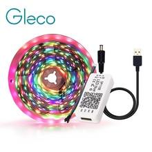 Led-Strip-Light Control WS2812B Dream-Color Tv-Background-Lighting 5050 Rgb APP USB 5V