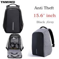YNMIWEI Anti thief 15.6 inch Laptop Bag USB Charge Men Women Notebook Bag macbook pro 15 inch Laptop Backpack Student Bag
