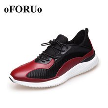 Men Sneakers Autumn Outdoor New Running Shoes Breathable Sport Shoes Waterproof Leather Run shoes N34