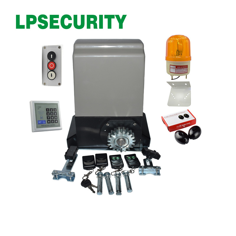 LPSECURITY 230V 800kg/1200kg electrical automatic sliding gate opener motor operator (SENSOR KEYPAD LAMP OPTIONAL) lpsecurity sliding gate opener motor