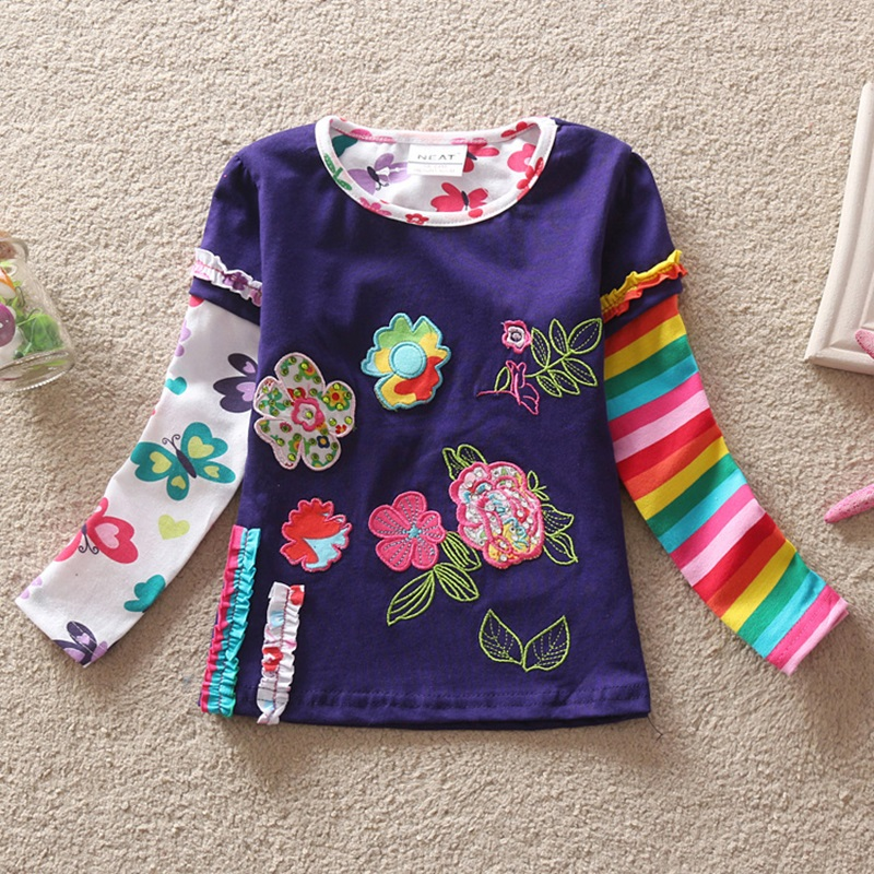HTB1YiOVRXXXXXcMapXXq6xXFXXXP - Girls Long Sleeve All Year T-Shirt, Long Sleeve, Cotton, Various Designs and Prints