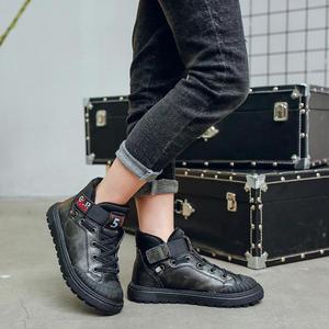 Image 4 - חדש סתיו חורף בני מגפי ילדים לילדים נעלי עור אמיתי בנות אופנה קרסול מרטין אתחול קטיפה חם ריצה
