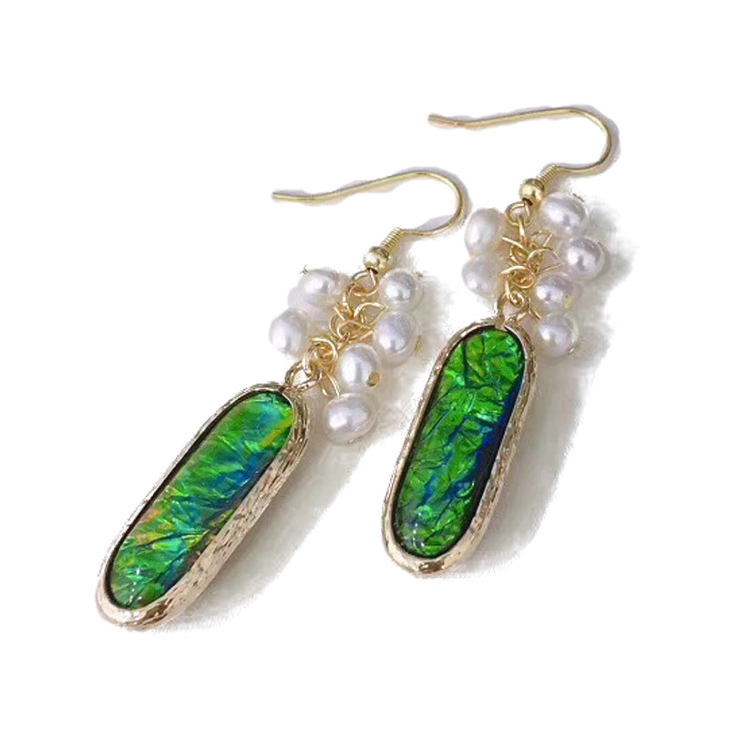 Fashion Style 4-6 mm Opals Natural Pearl Jewelry Freshwater Pearl wiring Earrings For woman boucles d'oreilles anneaux