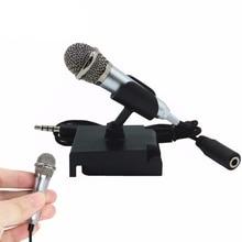 Przenośny Mini inteligentny mikrofon, Stereo mikrofon pojemnościowy dla telefonu komórkowego PC Laptop rozmów śpiewanie Karaoke 3.5mm zestaw