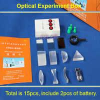 Prueba de Óptica Física Triangular prisma luces láser convexo cóncavo conjunto de lentes regalo infantil juguete equipo de ciencia