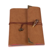 PU Leather Loose Leaf Notebook Travel Notepad 30 Sheets Paper Birthday Photo Albums Book Diary