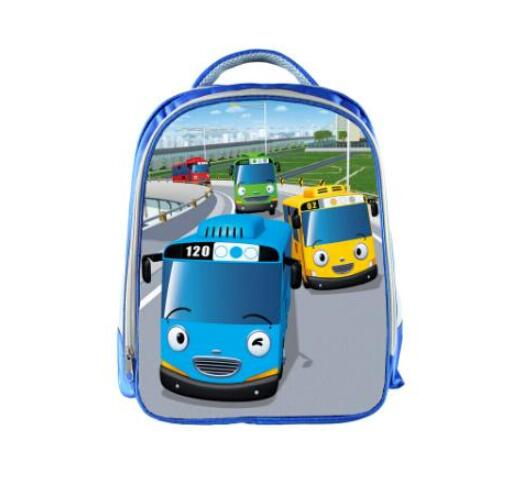Image 5 - TAYO Bus Blue School Bags for Teenagers Cartoon Cars 13 inch 3D Printing Boys Girls Children Backpack Kids School Bag-in School Bags from Luggage & Bags