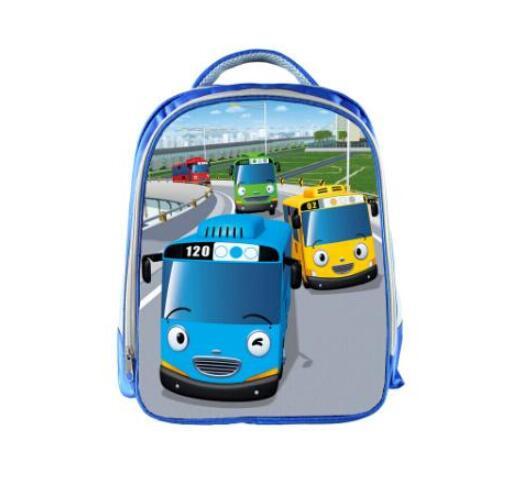Image 5 - TAYO Bus Blue School Bags for Teenagers Cartoon Cars 13 inch 3D Printing Boys Girls Children Backpack Kids School Bag-in School Bags from Luggage & Bags