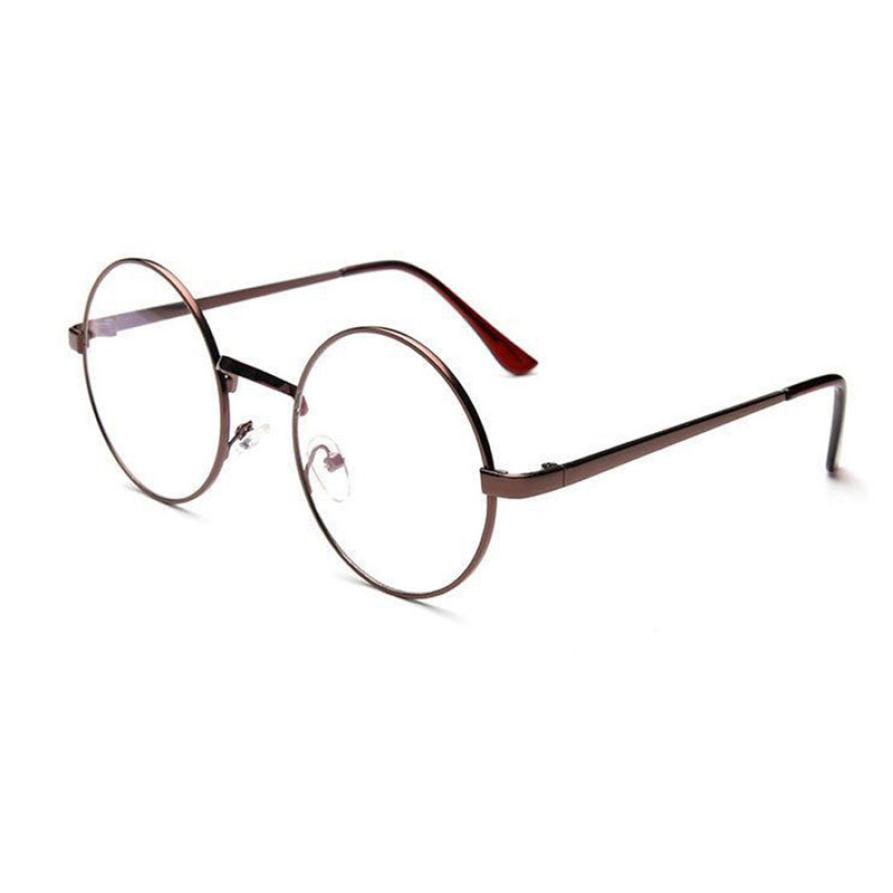 2019 fashion Hot sale Unisex Vintage Glasses Frame Round Lens Flat Myopia Optical Mirror Simple Metal Women/Men Glasses Frame