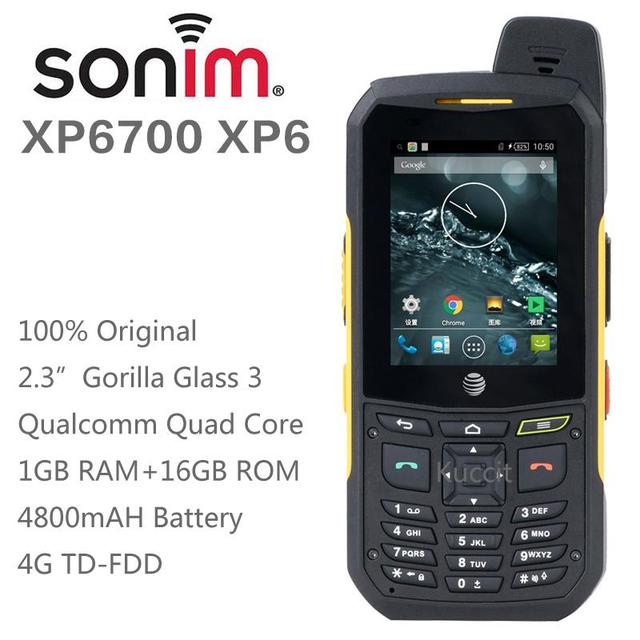 100% original Sonim Xp6 teléfono celular robusto Android Quad Core teléfono impermeable a prueba de golpes 3 g 4 g LTE FDD lujo sola sim