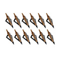 12PC/Lot hunting archery broadheads arrows 100GR 3-blades compound bow or crossbow Carbon Arcos y flechas outdoor