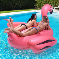 Hot 1.9M Flamingo Inflatable Swimming Float for Adults Kids Giant Ride On Pool Floating Swimming Ring Summer Water Fun Pool Toys