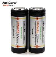 2019 VariCore חדש 26650 3.7V סוללה 26650 5100mAh 4A ליתיום סוללה מגן לוח PCB עבור בהירות גבוהה פנס